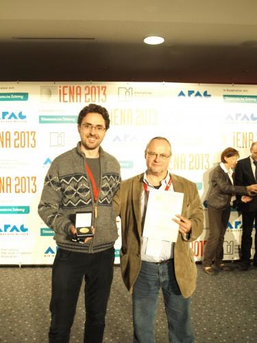 Joan Lladó y Juan Valero reciben la medalla de oro por las tres invenciones